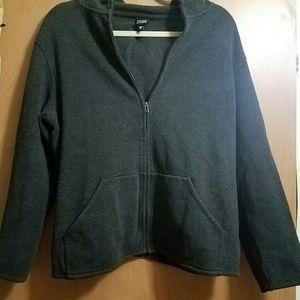 M Dark Gray Eileen Fisher hooded jacket